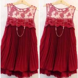 Đầm Suông Dập Ly Phối Ren