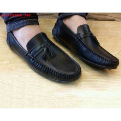 Giày mọi da nam thắt nơ da mềm bền phong cách sang trọng GDM68