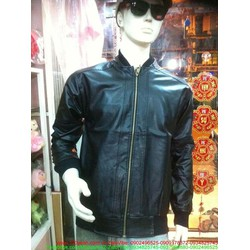Áo khoác da nam cao cấp bo thun đơn giản sang trọng AKEN24