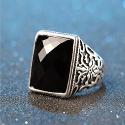 Nhẫn nam mặt đá phong cách Âu Mỹ NN018
