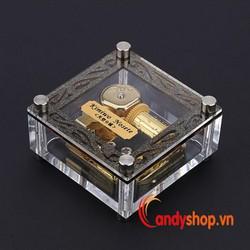 Hộp nhạc trong suốt kimiwo - music box candyshop88.vn