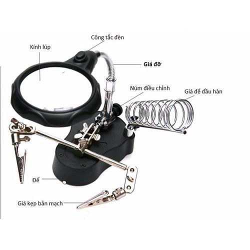 Kính lúp soi kẹp hàn mạch điện tử có đèn led - 4121620 , 4624729 , 15_4624729 , 129000 , Kinh-lup-soi-kep-han-mach-dien-tu-co-den-led-15_4624729 , sendo.vn , Kính lúp soi kẹp hàn mạch điện tử có đèn led