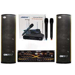 Dàn loa karaoke XG-309 + amply 328 + mích không dây BOSS
