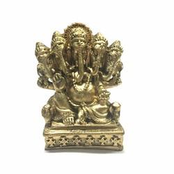 Tượng Đá Thần Voi Ganesha - Màu vàng nhủ đồng