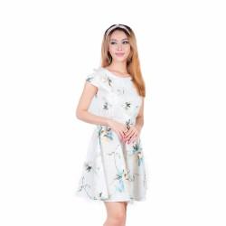 Đầm Xòe Họa Tiết Hoa Cao Cấp Thời Trang Eden-D122