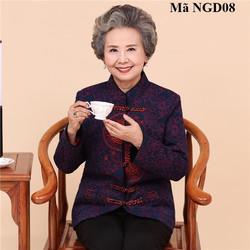 Áo khoác dạ lót lông người lớn tuổi NGD08