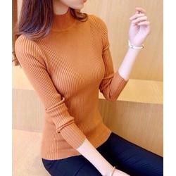 Áo len gân tay dài cổ cao chất cực đẹp