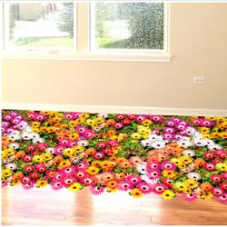 Thảm hoa cúc đồng tiền đa sắc 3D