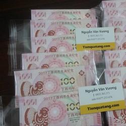 Tiền 100 Macao Hình Gà Lưu Niệm