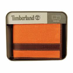 Ví Da Nam Timber land Canvas Hunter Passcase Orange