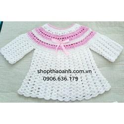 Áo khoác len móc Handmade size 10 tháng đến 15 tháng