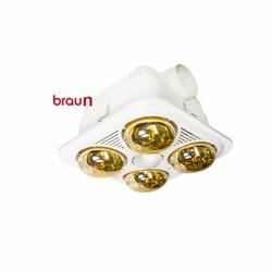 Đèn sưởi nhà tắm BRAUN 4 bóng âm trần BU04G không điều khiển
