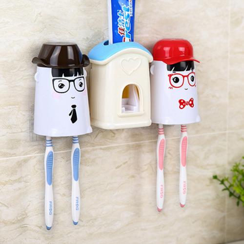 Bộ đựng bàn chải, lấy kem đánh răng