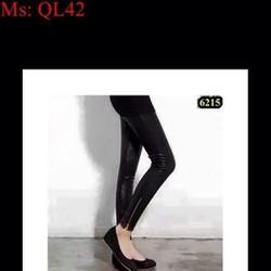 Quần legging da kiểu ôm dáng phối kéo khóa sành điệu QL42
