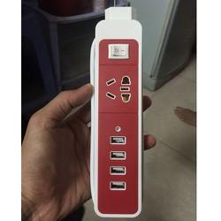 Ổ ĐiỆN 220V DÀI 1M CÓ 1 PHÍCH 3 CHẤU và 2 CỔNG USB