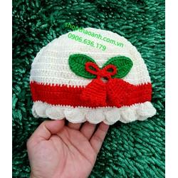 Nón len móc Handmade size 8 tháng - 11 tháng