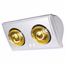 Đèn sưởi nhà tắm Kohn 2 bóng vàng - KU02G
