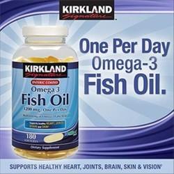 Viên Uống Kirkland Signature Fish Oil Omega 3 1200mg
