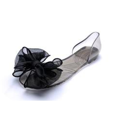 Giày búp bê nữ đinh nơ vải xinh xắn