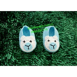 Giày len móc Handmade size 0 tháng đến 2 tháng