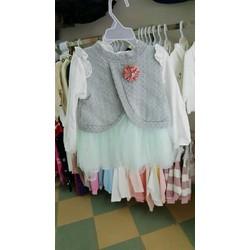 váy len phối voan