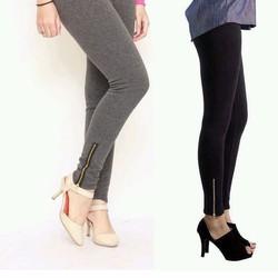 Quần Legging nữ kéo khóa chân