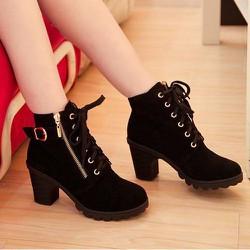 Giày boot nhung B070