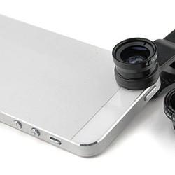 Lens 3 in 1 cho Smartphone Fisheye, Wide Angle, Macro