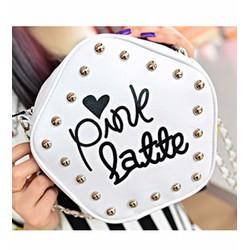 túi xách đính hạt pink latte Mã: TX1264 - TRẮNG