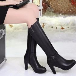 Giày Boot Nữ Cổ Cao Phong Cách Hàn Quốc