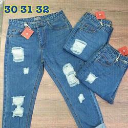 Quần baggy jean nữ size 30-31-32