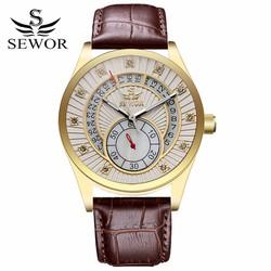 Đồng hồ Cơ nam chạy tự động dây da SEWOR SE8817