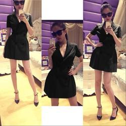 Đầm đi tiệc sang trọng với thiết kế giả vest như Ngọc Trinh DV395