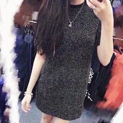Đầm suông kim tuyến ánh nhũ