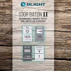 ĐÈN PIN OLIGHT S30R BATON II