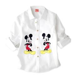 Áo sơmi tay dài in hình chuột Mickey cho bé 10kg-25kg
