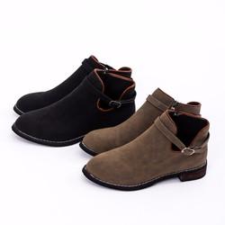 Boot cổ cao khóa cài thời trang