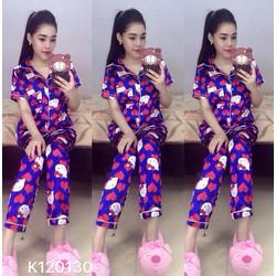 set pijama tay con trái tim 3 màu