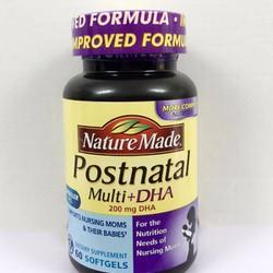 Viên uống Nature Made Postnatal Multi DHA Mỹ