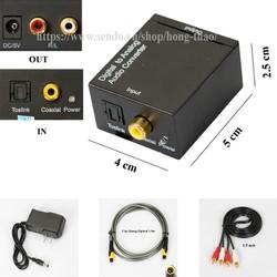 Hộp chuyển đổi tín hiệu Coaxial-Optical sang Audio R-L