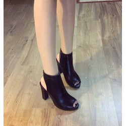 giày cao gót quai bản da cao cấp