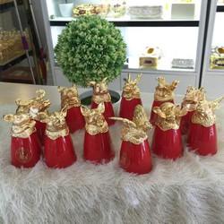 Bộ Ly 12 con Giáp sứ cao cấp -quà tặng tết