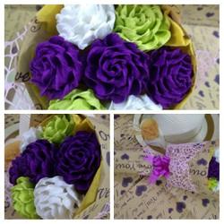 Hoa hồng giấy handmade nghệ thuật -  Kim Oanh