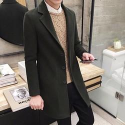 Áo khoác dạ nam dáng dài
