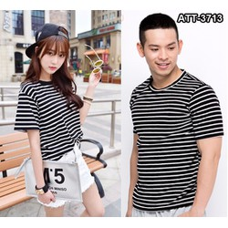 ÁO THUN COUPLE STRIPE