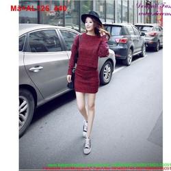 Set áo len chân váy trẻ trung sành điệu AL125