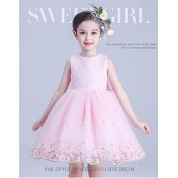 Đầm công chúa D024 - ren xòe form ngắn tới gối cho bé
