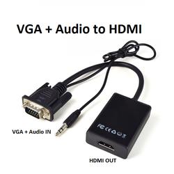 cáp chuyển đổi VGA sang HDMI Có Audio -  Hàng chất lượng