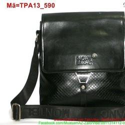 Túi đeo ipad phối khóa màu đen sang trọng TPA13