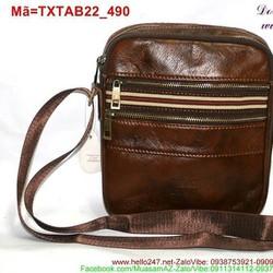 Túi đeo da ipad 7 galaxy tab phối viền sọc sành điệu TXTAB22
